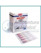 AGUJAS SHARP 0.22 X 30 MM. C/100 PIEZAS