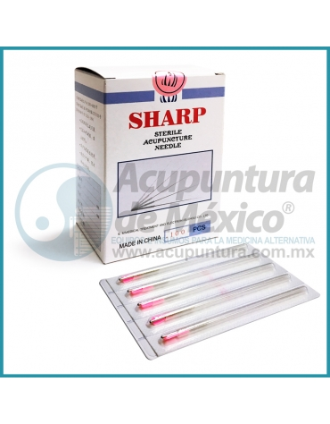AGUJAS SHARP 0.22 X 50 MM. C/100 PIEZAS