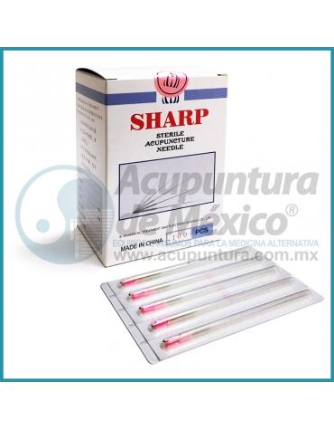 AGUJAS SHARP 0.22 X 60 MM. C/100 PIEZAS