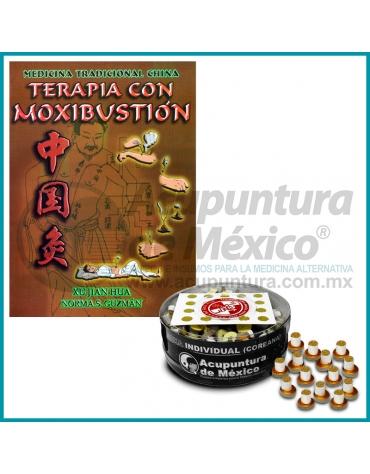LIBRO TERAPIA CON MOXIBUSTIÓN + MOXA COREANA