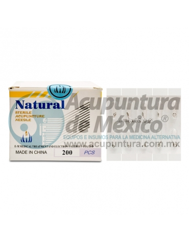 TACHUELA SUBCUTÁNEA NATURAL 0.20 x 3 MM. C/200 PZS.