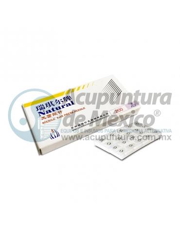 TACHUELA AURICULAR NATURAL 0.20 x 1.5 MM. C/200 PZS. PARCHE TRANSPARENTE