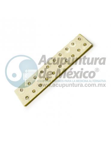 TACHUELA AURICULAR 0.20 MM X 1.5 MM. C/20 PIEZAS, PARCHE TRANSPARENTE