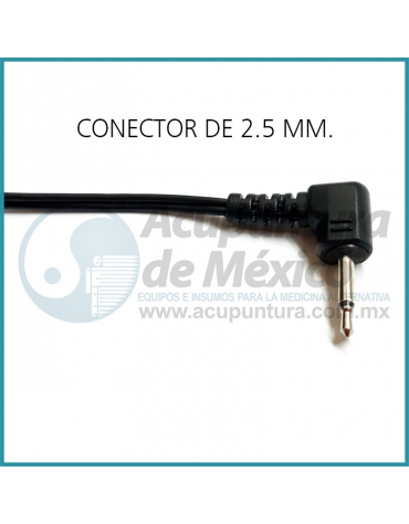CABLE PUNTAL, 2.5 MM. (90°) X 1.15 MTS.